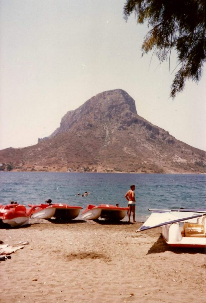 Views of Telendos island from Kalymnos Island Greece
